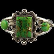 Vibrant Green Carico Lake Turquoise Bracelet