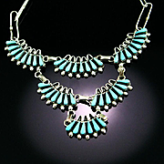 Old 1940'S Zuni Squaw Necklace