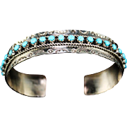 Zuni Petit-Point Cuff Bracelet by J & P Ukestine