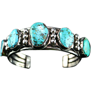 Old Navajo Sterling and Turquoise Bracelet