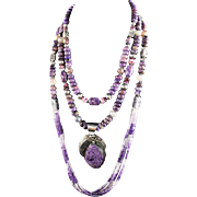 White Fox Collection: Spectacular Charoite and Amethyst Collection