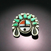 Adorable Petite Zuni Lapel PIn From 1940's