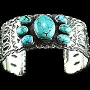 Beautiful Sterling and Kingman Turquoise Bracelet