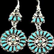 Double Dangle Petit Point Earrings