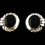 Navajo Onyx Button Earrings