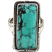 Sterling and Turquoise Ring by Navajo Artist Richard T. Thomas
