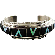 Navajo Artist Joan Douglas Inlay Bracelet