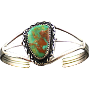 Navajo Royston Turquoise and Sterling Bracelet