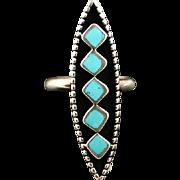 Zuni Shadowbox Inlay Ring