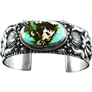 Spectacular Dry Creek Turquoise Bracelet by Navajo Artist Darryl Becenti