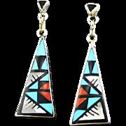 Zuni Inlay Earrings by Delberta Boone
