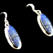 Lapis Earrings by Navajo Artist Ted Etsitty