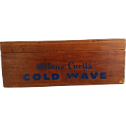 Helene Curtis Cold Wave Wood Box with Lid