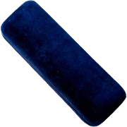 Royal Blue Velvet Fine Jeweler's Box for Stickpin Bar Pin Personal Toothpick or Specialty Tool