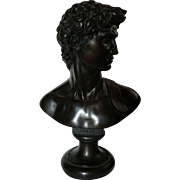 David by Michelangelo Sculpture by Austin Productions as a 1966 repop of the Bust Portion of Statue