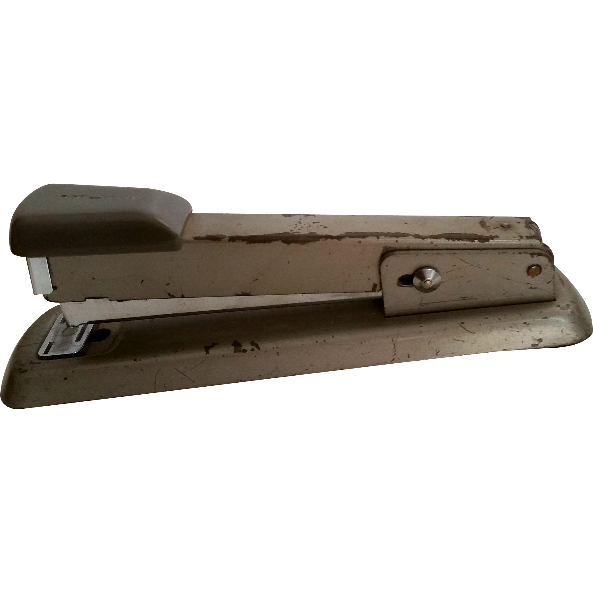 Vintage Bates 56 Stapler Gray Office Supplies Chippy Paint Staple Or Tack