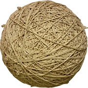 Over 10 Pound Ball of Twine – Hand wound of Creamy White Cotton String and Very Round