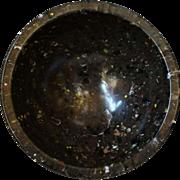 Texas Ware #111 Melamine Spatter or Confetti Ware Mixing Bowl Cocoa Black Salmon Yellow