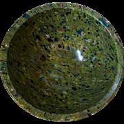 Texas Ware #118 Melamine Spatter or Confetti Ware Bowl Avocado Black Salmon Yellow Teal
