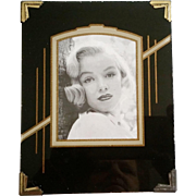 Art Deco Reverse Painted Photo Frame Small
