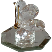 Swarovski Crystal Butterfly 012774 Figurine on Beveled Mirror