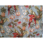 Parrots Fabric Titled Temptation Island an Original Copyright Design by Kingsway Fabrics with Roseguard Finish - Red Tag Sale Item