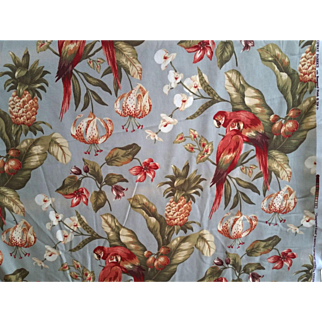 Parrots Fabric Titled Temptation Island an Original Copyright Design by Kingsway Fabrics with Roseguard Finish