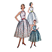 Sz 14 Simplicity 1950s Party or Sun Dress Sewing Pattern No 2064 Bust 34 with 3 Style Bodices Halter Surplice and Halter with Peter Pan Collar