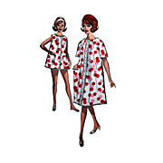 Advance 2918 SZ 12 32 bust Robe, Baby Doll or Shortie Pajama Pattern with Bloomer Style Panties
