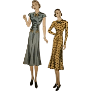DuBarry 1935B from 1930s Sewing Pattern Waist Ruching