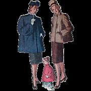 Simplicity Swing Coat Sewing Pattern Sz 16 c1946
