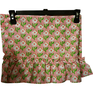 3 Pink Flower Power Valances apx 80 inches each