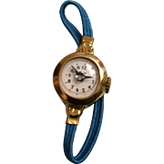 1950s Toy Watch with Blue Elastic Band for Child or Large Doll
