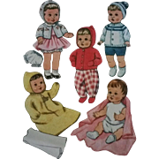 McCalls 8125 Doll Clothes Pattern Knit and Sew Factory Folds