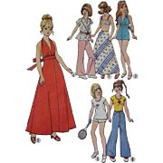 Simplicity 6697 Doll Clothes Pattern for 11 ½ inch doll 1970s