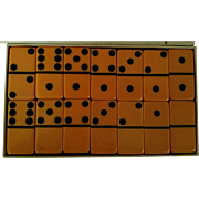 Puremco Bakelite Marblette Extra Thick Dominoes Deep Butterscotch