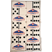 Hydrostatic Engineers of Oklahoma 6 x 6 Dominoes Vintage Custom Advertising Double 6