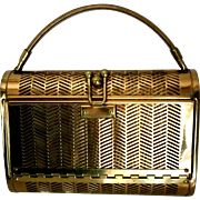 Dorset Rex Pierced Brass Evening Bag Originally Sold at Saks Fifth Avenue - Red Tag Sale Item