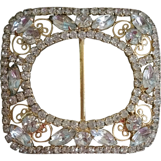 Juliana D and E Rhinestone Buckle Large with Clear Rhinestones