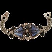 Montana Blue Triangle Rhinestone Vintage Bracelet