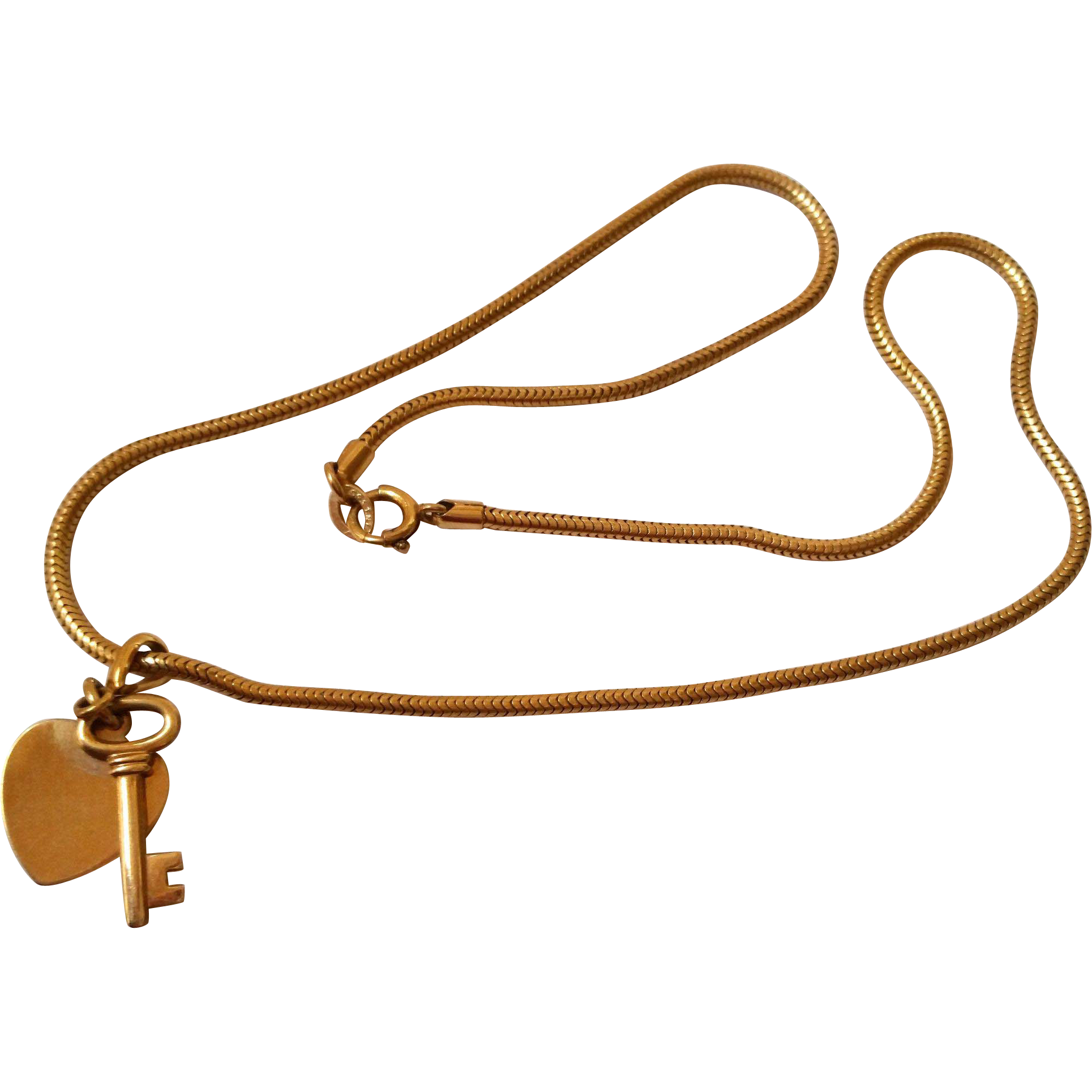 Forstner Key To My Heart Necklace on Snake Chain1 20 12K GF from