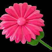 Two Tone Pink Flower Power Enamel Pin
