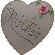 Lucite Heart Shaped Mother Pin Brooch on Original Card