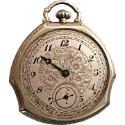 Gruen Guild Triad Shape 14K GF Pocket Watch 17 Jewels w/ 3 adj Shape Patented in 1924