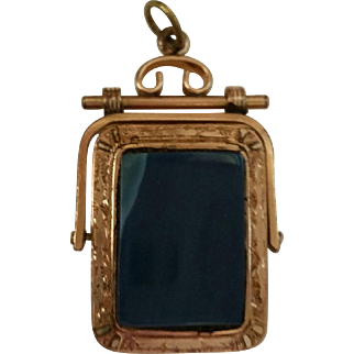 Vintage Watch Fob Locket in Rose Gold and Yellow Gold Filled