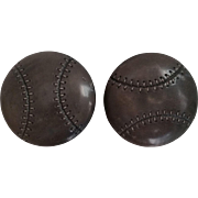 Vintage Realistic Celluloid Baseball Buttons