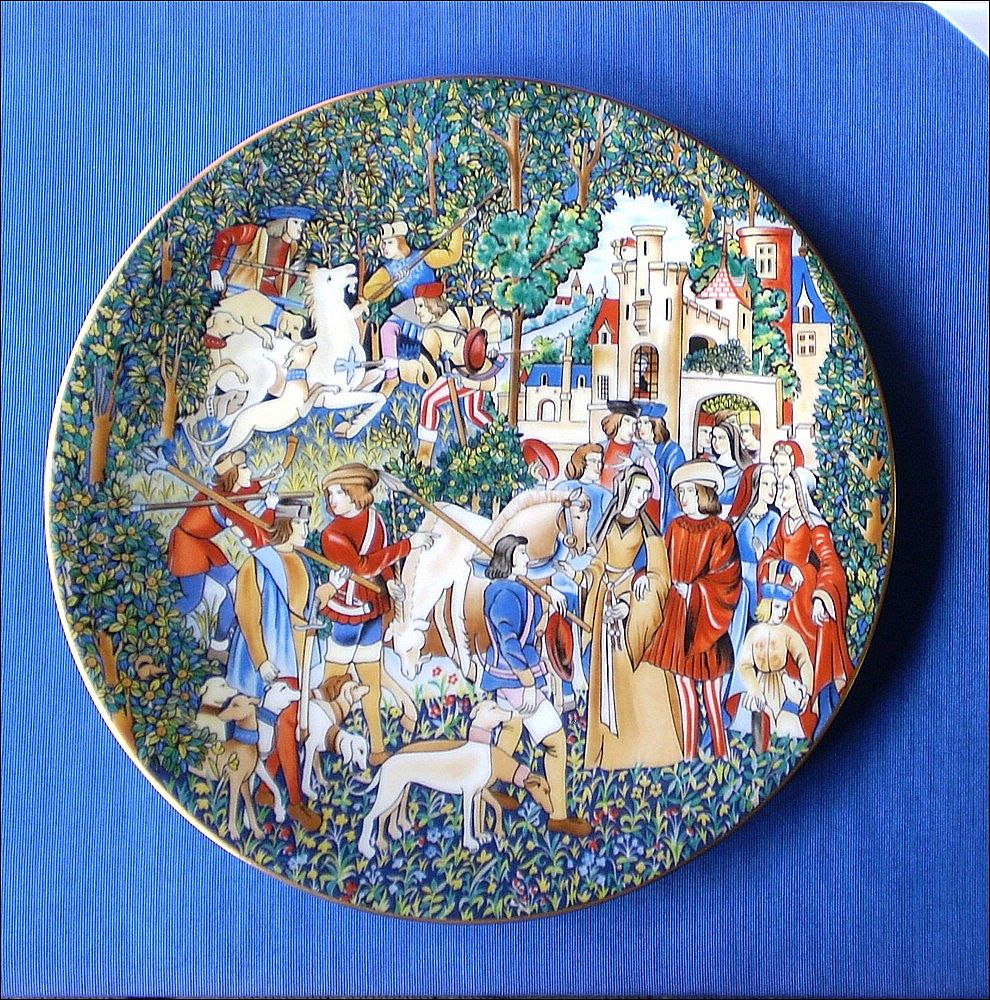 Unicorn Collectors Plate: Hunt of the Unicorn