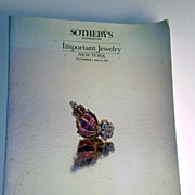 Sotheby's Auction Catalog of Important Jewelry, 1981