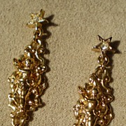 Kirk's Folly Cherub and Crystal Earrings