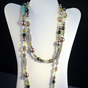 Extra-Long Art Glass Necklace